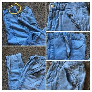7 For All Mankind Jeans - 7 FOR ALL MANKIND SKINNY CROP JEANS WITH ZIPPERS